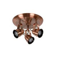 CIGAL Spot LED 3xGU10/5W 350LM 2700K Rood Koper