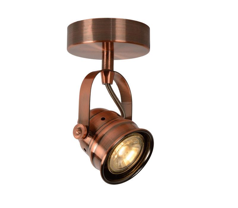 CIGAL Spot LED 1xGU10/5W 350LM 2700K Rood Koper
