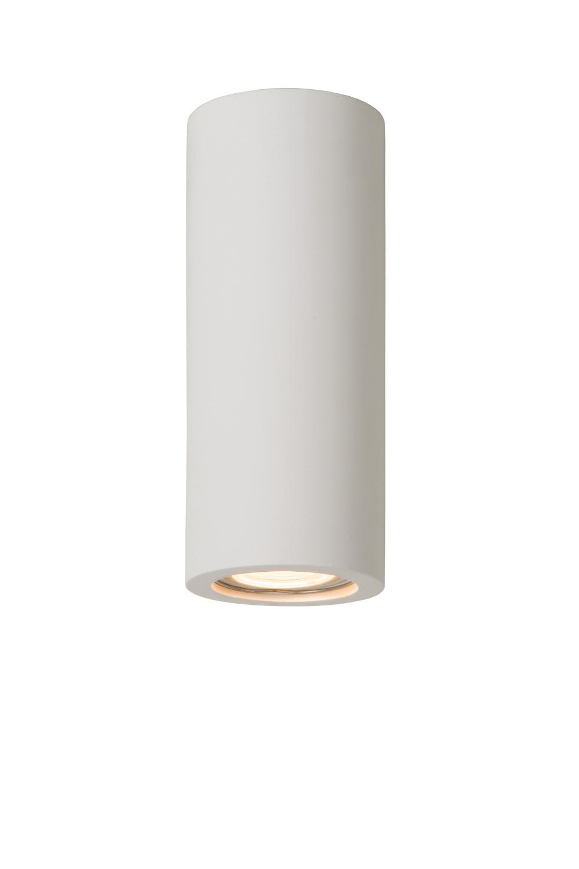 Lucide GIPSY Plafondlicht Rond GU10 D7 H17cm Wit