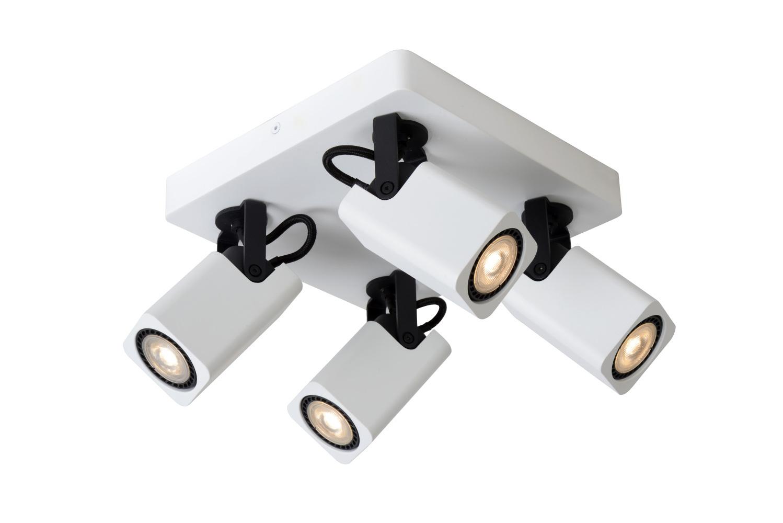 Lucide ROAX Plafondspot-Wit-LED Dimb.-4xGU10-5W-3000K