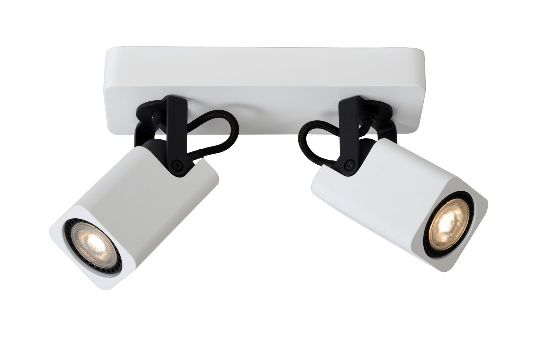 Lucide ROAX Spot LED 2xGU10/5W incl Dimbaar 320LM Wit