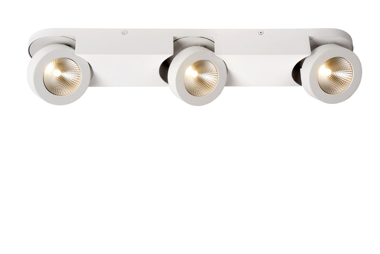 Lucide MITRAX-L. Plafondspot-Wit-LED Dimb.-5W-3000K