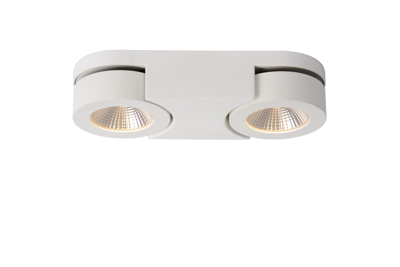 Lucide MITRAX Plafondspot-Wit-LED Dimb.-5W-3000K-Alumin.