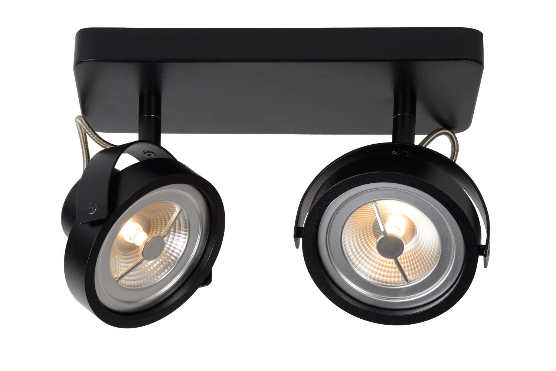 Lucide TALA LED Spot 2xG53/AR111-12W 600LM 2700K Zwart