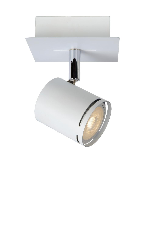 Lucide RILOU Plafondspot-Wit-LED Dimb.-1xGU10-5W-3000K