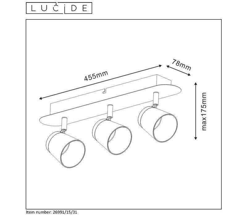 HELOÏSE Spot LED 3x5W 1200LM 3000K  L45cm Wit