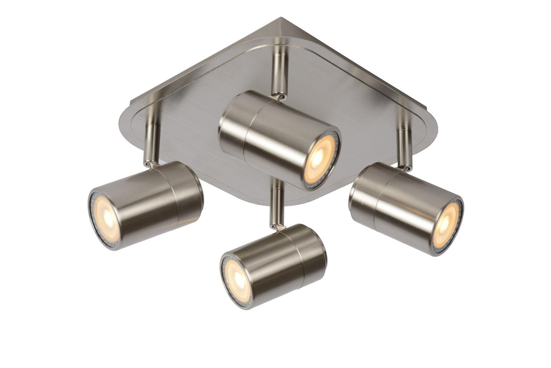 Lucide LENNERT Plafondspot-Mat ch.-LED Dimb.-4xGU10-5W