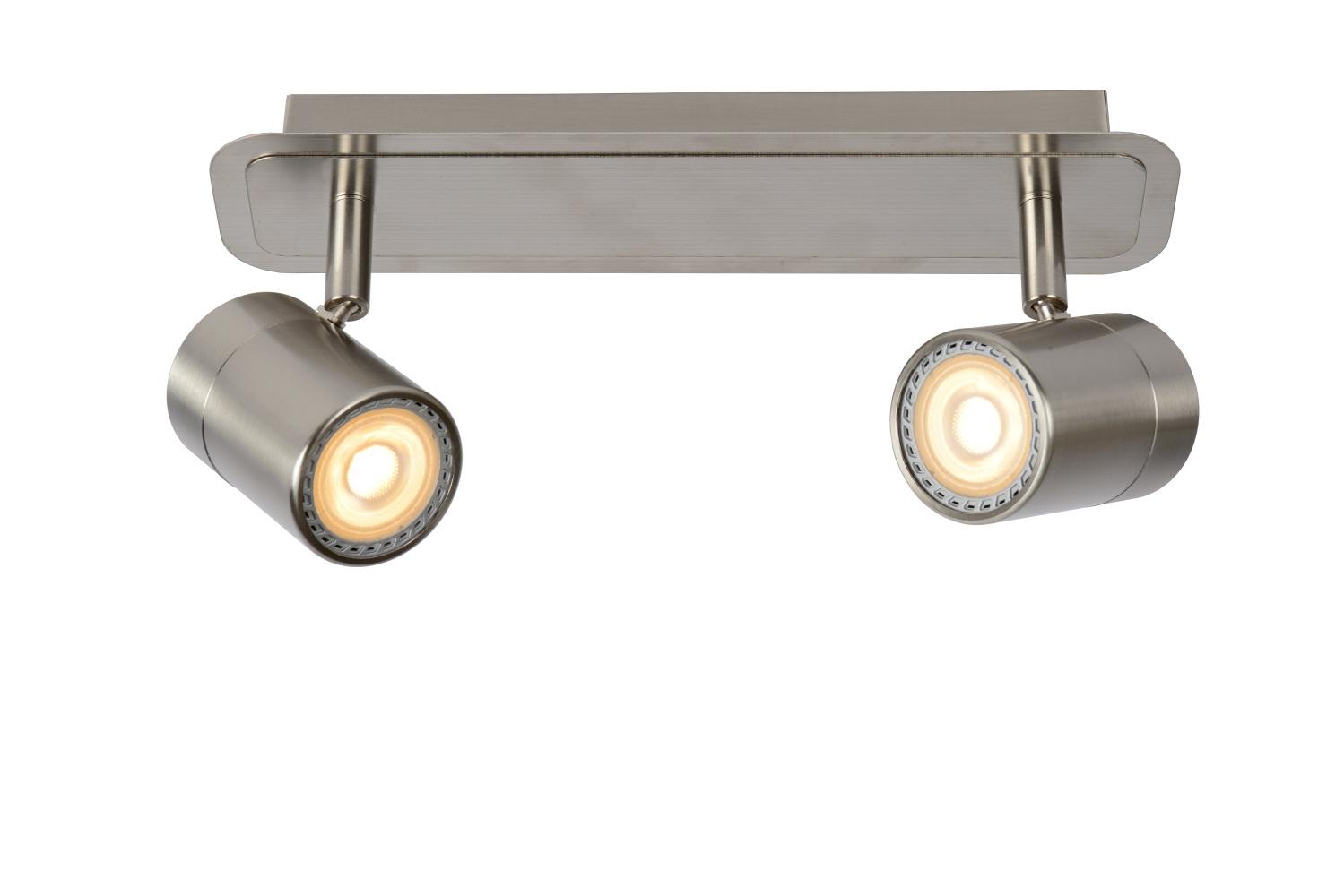 Lucide LENNERT Plafondspot-Mat ch.-LED Dimb.-2xGU10-5W
