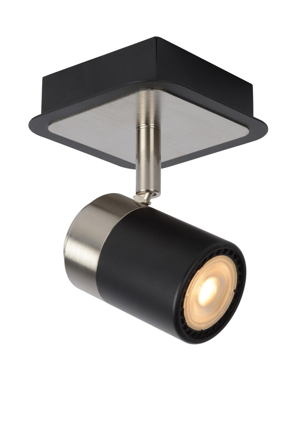 Lucide LENNERT Plafondspot-Zwart-LED Dimb.-1xGU10-5W