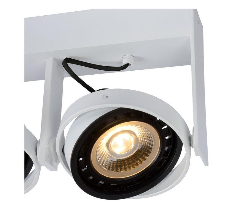 GRIFFON Plafondspot Dim-to-warm 2xGU10 12W Wit