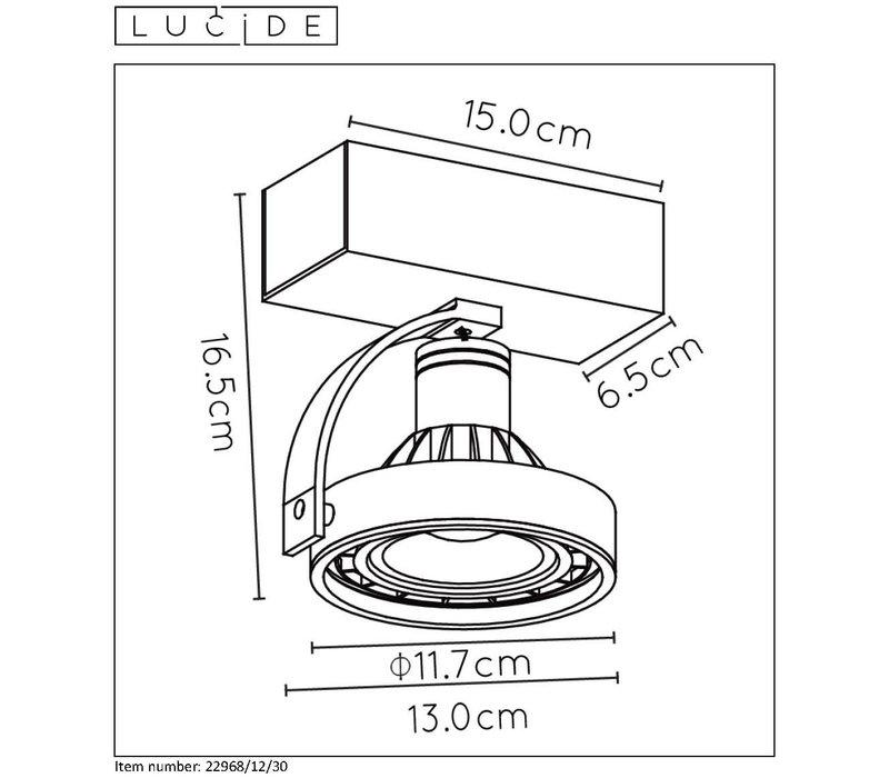 DORIAN Plafondspot Dim-to-Warm GU10 12W Zwart