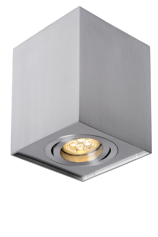 Lucide TUBE Plafondspot-Mat ch.-1xGU10-50W-Alumin.