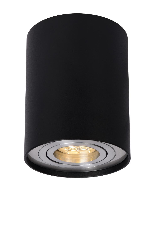 Lucide TUBE Spot Opbouw GU10 Rond D9.6 H12.5cm Zwart