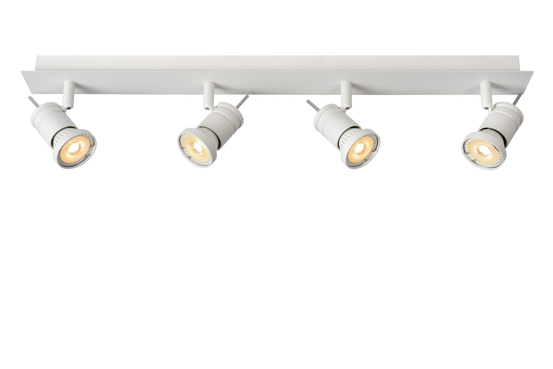 Lucide TWINNY-L. Plafondspot-Wit-LED Dimb.-4xGU10-5W