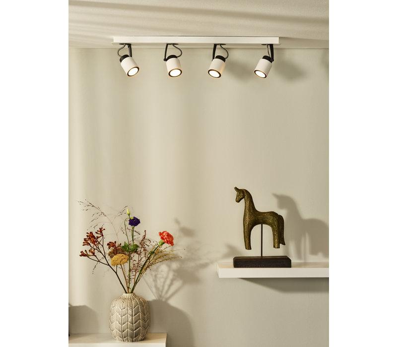 DICA LED Spot 4xGU10/5W L64cm 320LM 3000K Wit