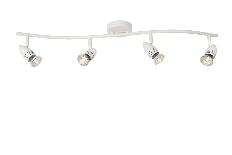 Lucide CARO-LED Plafondspot-Wit-LED-4xGU10-5W-2700K