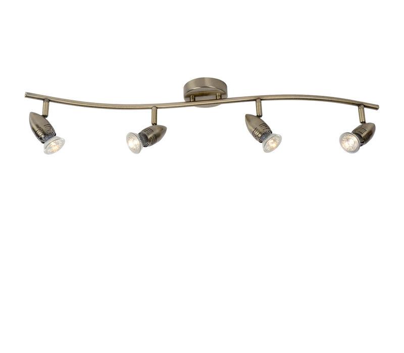 CARO-LED Spot Boog 4xGU10/5W Brons