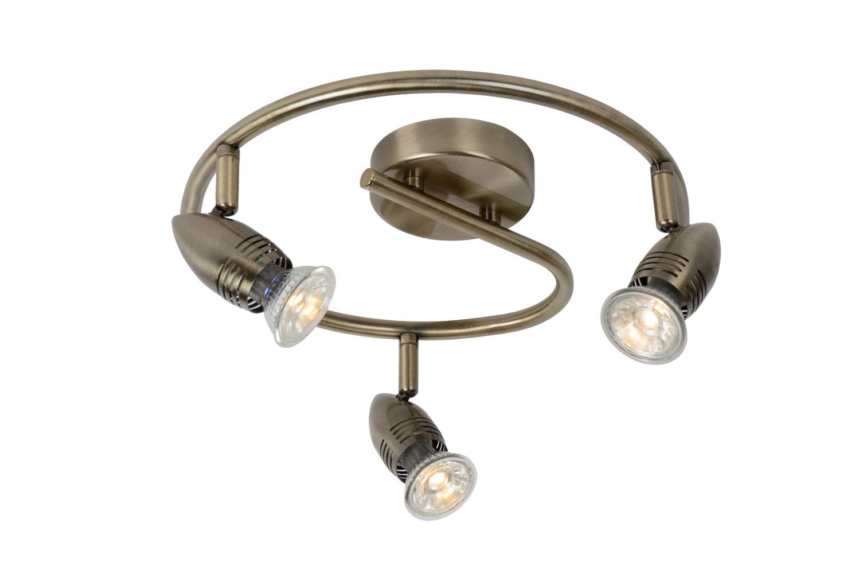 Lucide CARO-LED Spot Boog 3xGU10/5W Brons