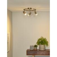 CARO-LED Spot Boog 3xGU10/5W Brons