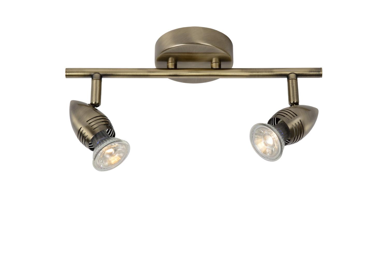 Lucide CARO-LED Wandspot 2x GU10/5W L32 H12.5 cm W10cm