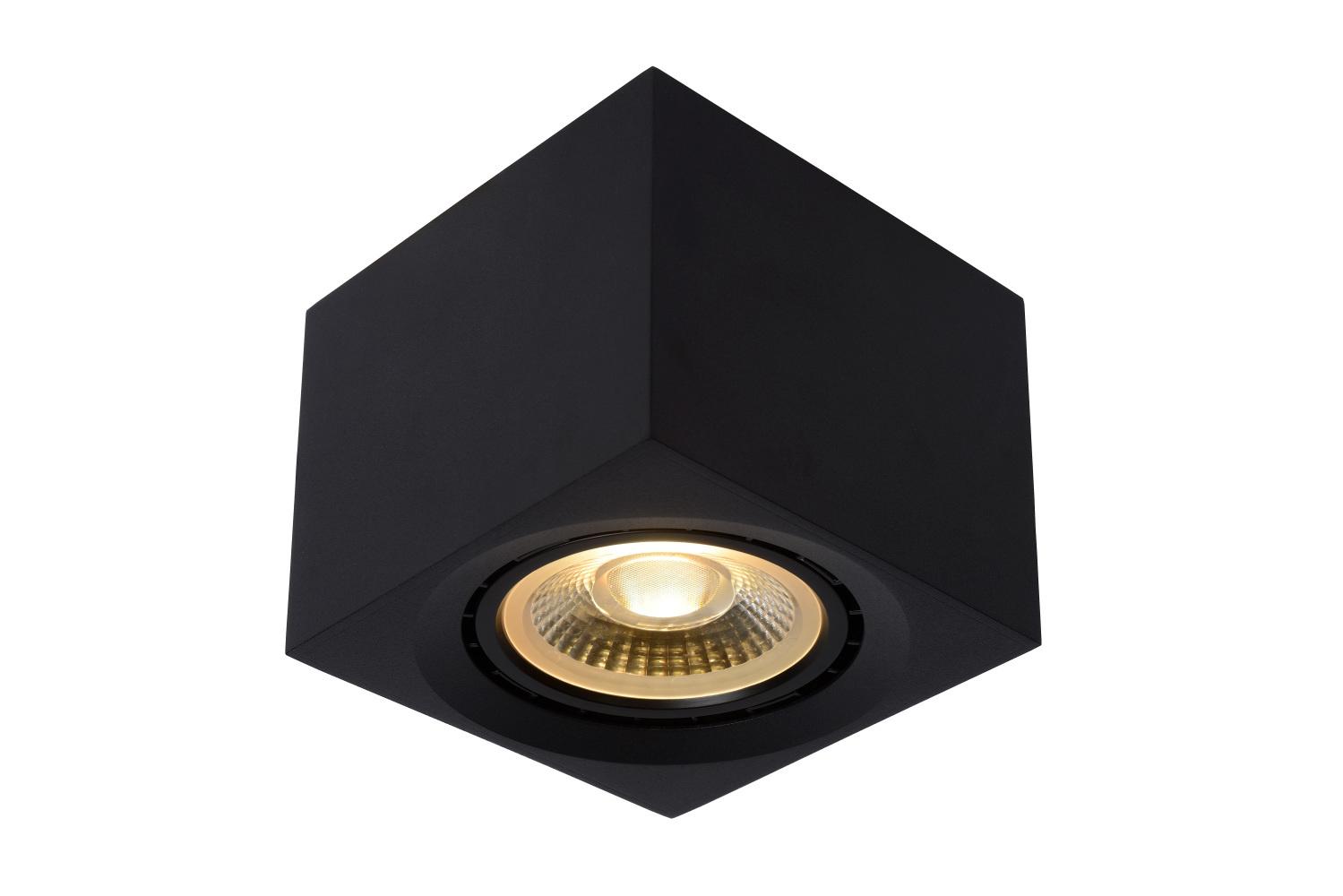 Lucide FEDLER Plafondspot-Zwart-LED DTW-1xGU10-12W