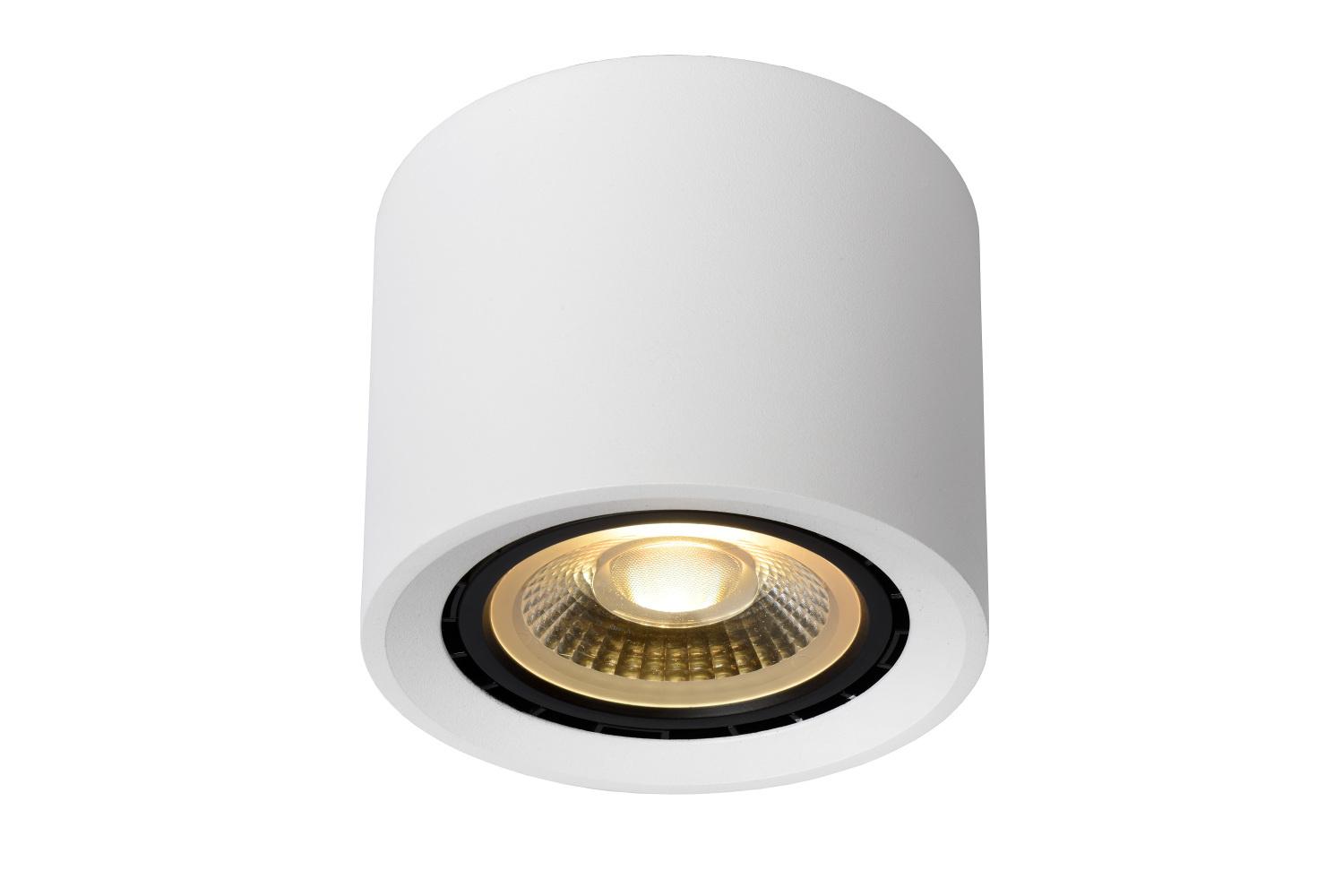 Lucide FEDLER Plafondspot-Wit-Ø12-LED DTW-1xGU10-12W