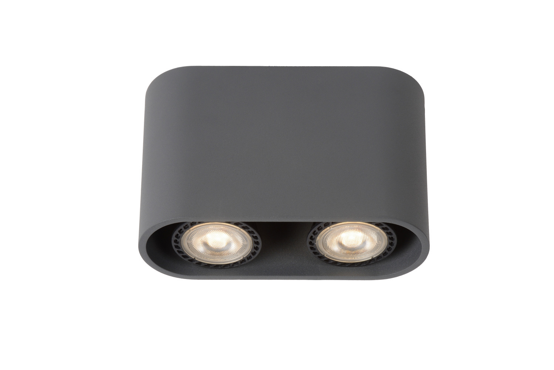 Lucide BENTOO-LED Spot GU10/5Wincl L16.6 W6 H11cm Grijs