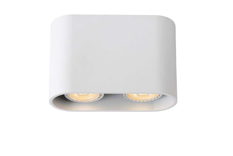 Lucide BENTOO-L. Plafondspot-Wit-LED Dimb.-2xGU10-5W