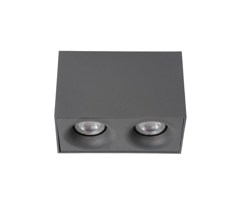 BENTOO-LED Spot GU10/5Wincl L16,5 W68 H11cm Grijs