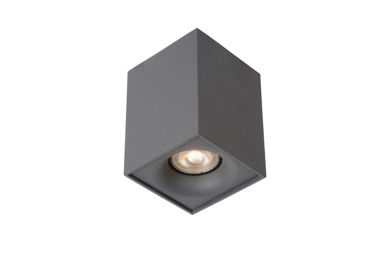 Lucide BENTOO-LED Spot GU10/5Wincl L8 W8 H11cm Grijs