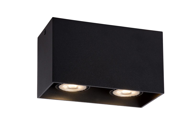 Lucide Spot Bodi LED 2 lichts zwart rechthoekig