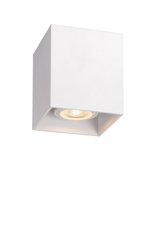 Lucide BODI Plafondlicht Vierkant GU10 excl. D8 H9.5cm Wi