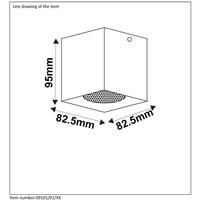 BODI Plafondlicht Vierkant GU10 excl. D8 H9.5cm Zw