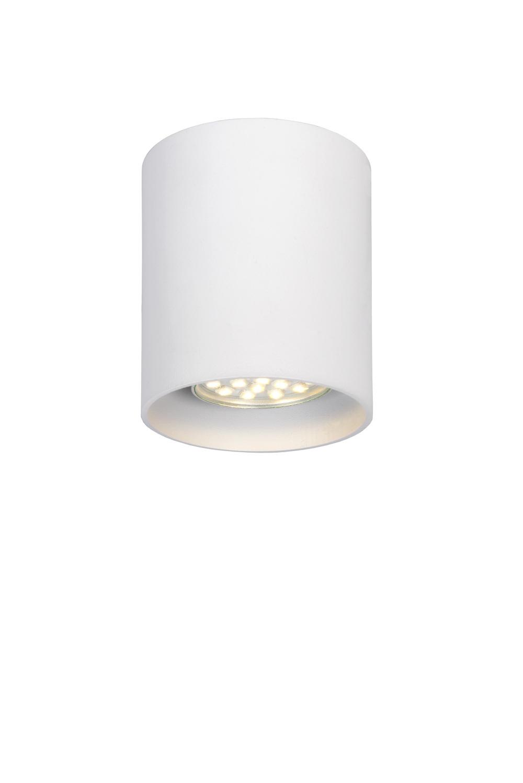Lucide BODI Plafondlicht Rond GU10 excl. D8 H9.5cm Wit