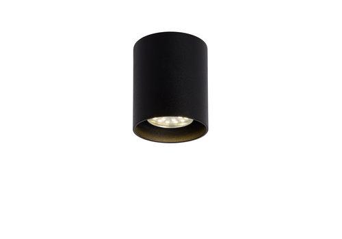 Lucide BODI Plafondlicht Rond GU10 excl. D8 H9.5cm Zwart