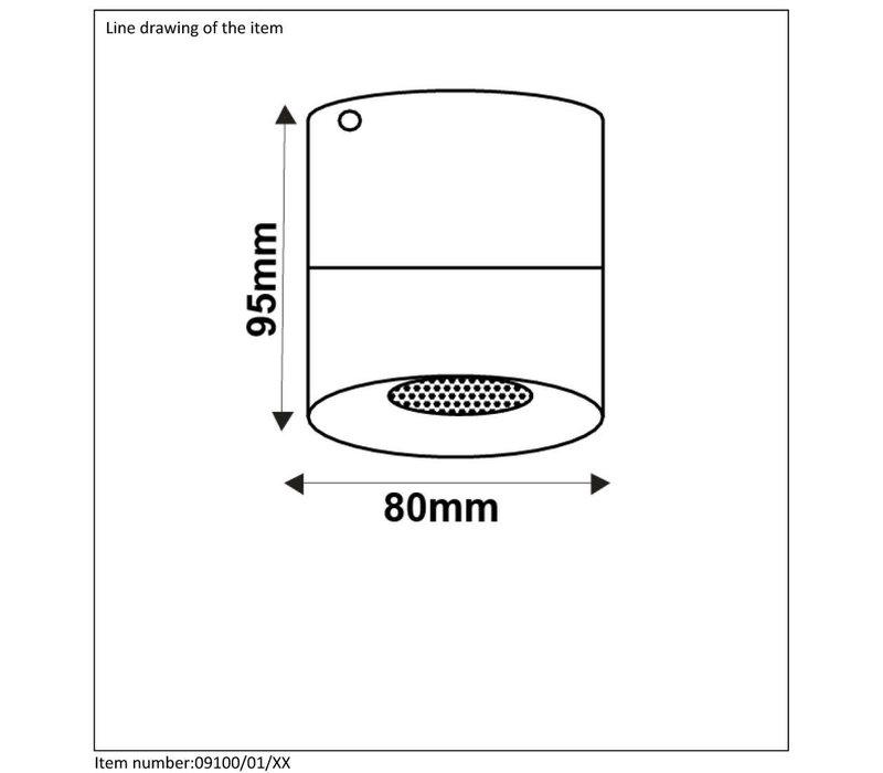BODI Plafondlicht Rond GU10 excl. D8 H9.5cm Alu