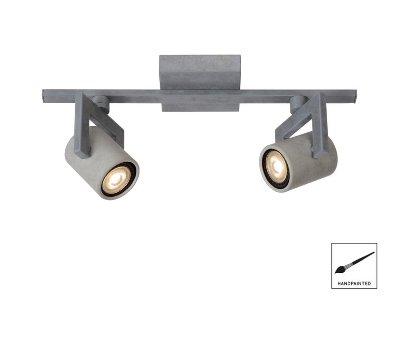 CONNI-LED Spot 2xGU10/5W L39 H15 Ø6cm Grijs