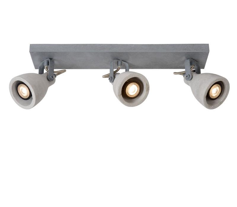 CONCRI-LED Spot 3xGU10/5Wincl 320LM 3000K Grijs