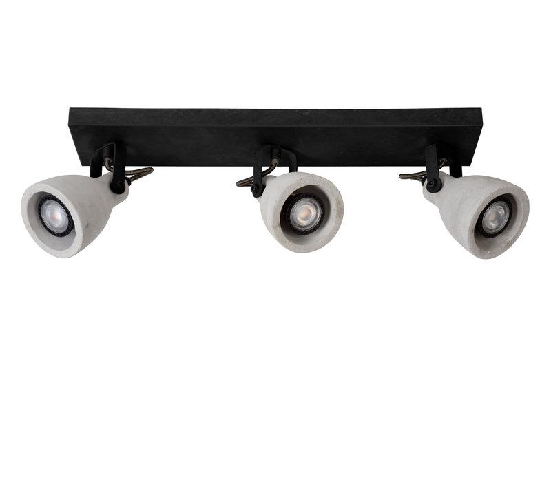 CONCRI-LED Spot 3xGU10/5Wincl 320LM 3000K Zwart