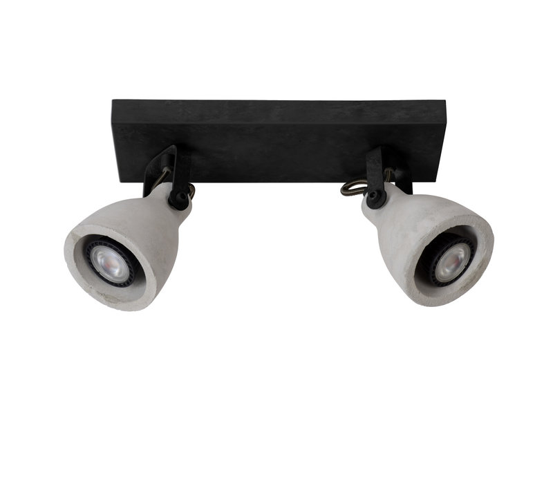 CONCRI-LED Spot 2xGU10/5Wincl 320LM 3000K Zwart