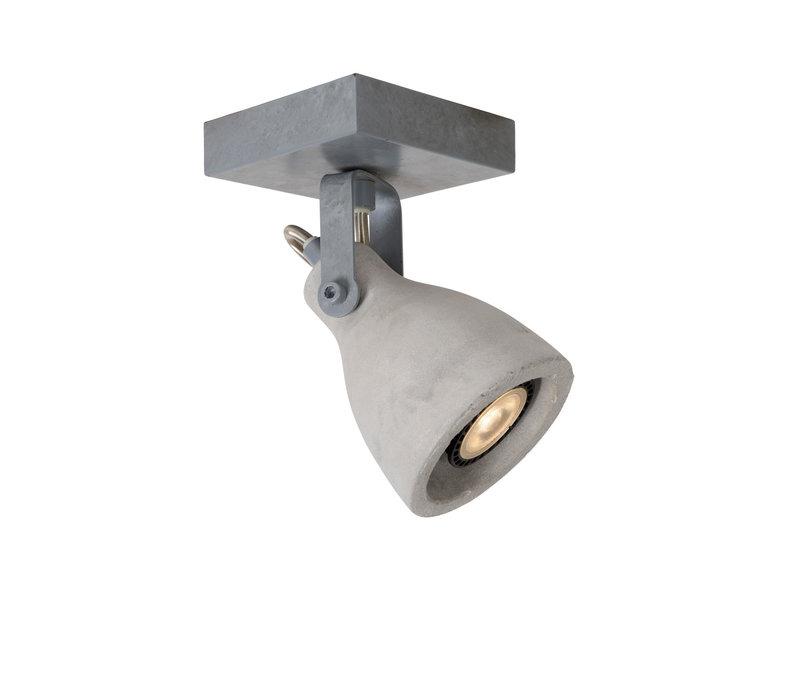 CONCRI-LED Spot 1xGU10/5Wincl 320LM 3000K Grijs