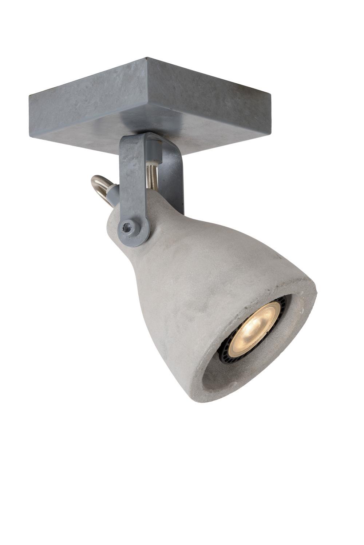 Lucide CONCRI-LED Spot 1xGU10/5Wincl 320LM 3000K Grijs