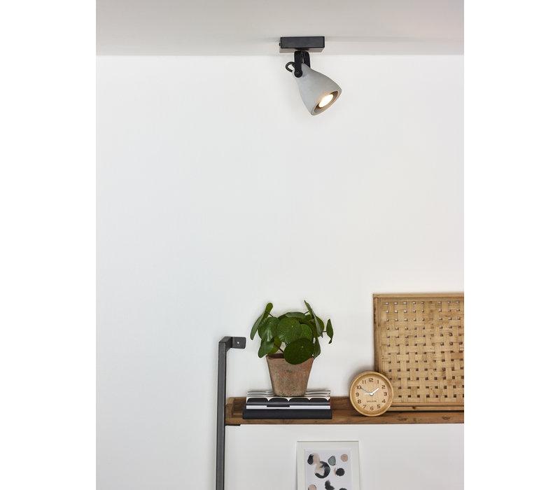 CONCRI-LED Spot 1xGU10/5Wincl 320LM 3000K Zwart