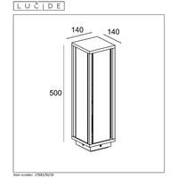 CLAIRE-LED Sokkel IP54 1xE27W Max60W L14 W14 H50cm