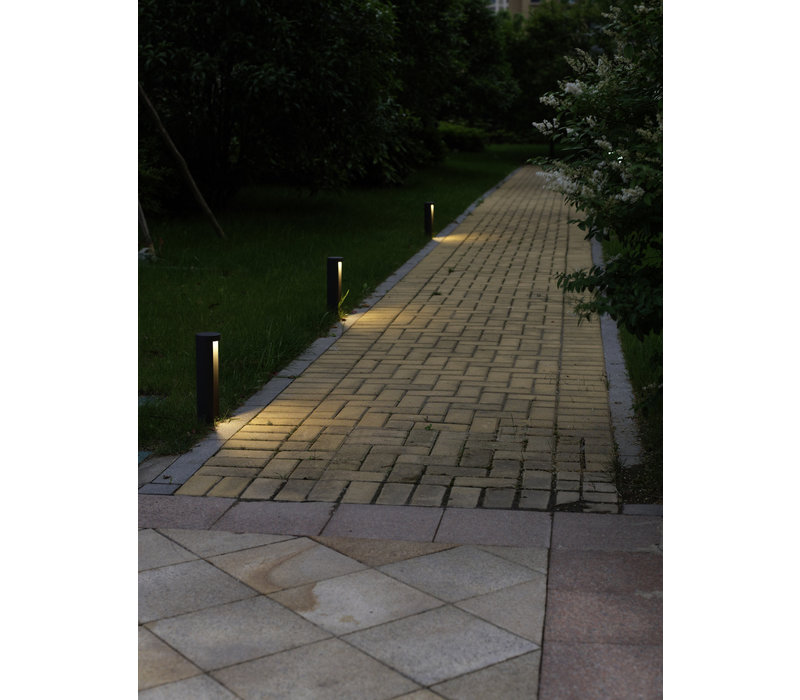 COMBO Paaltje LED 7W IP54 3000K  H25 D9cm Zwart