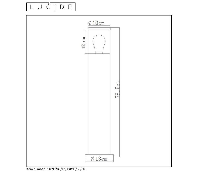 FEDOR Sokkellamp Buiten-Mat ch.-1xE27-40W-IP44