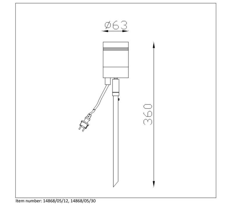 ARNE-LED Buitenlicht op piek 1x GU10/5W 350LM 2700