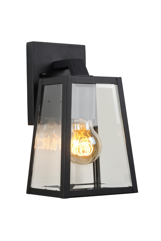 Lucide MATSLOT Wandlicht IP23 E27 H25cm Zwart