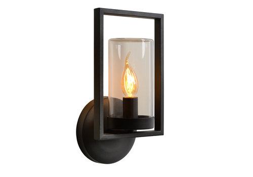 Lucide NISPEN Wandlamp Buiten-Zwart-1xE14-40W-IP44-Metaal