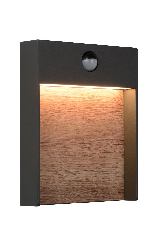 Lucide JELLUM Wandlicht LED H23cm Antraciet